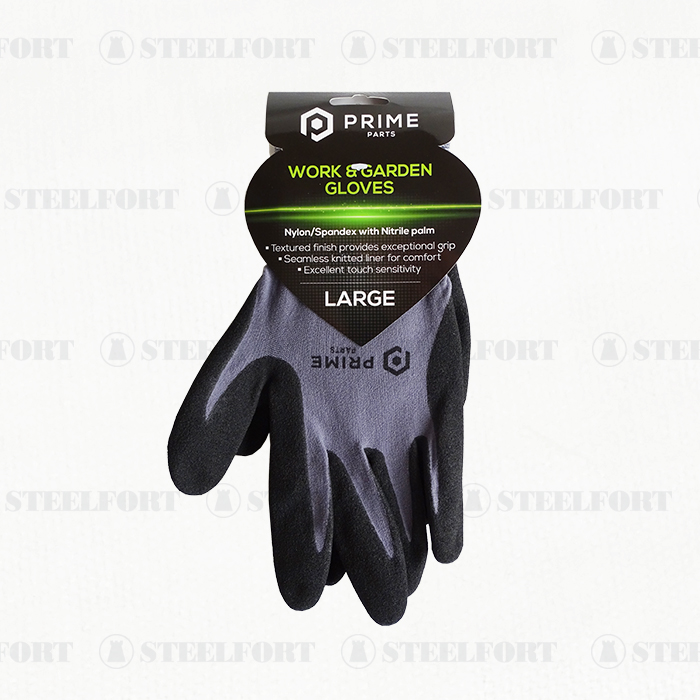 Nitrile Work/Garden Gloves Large